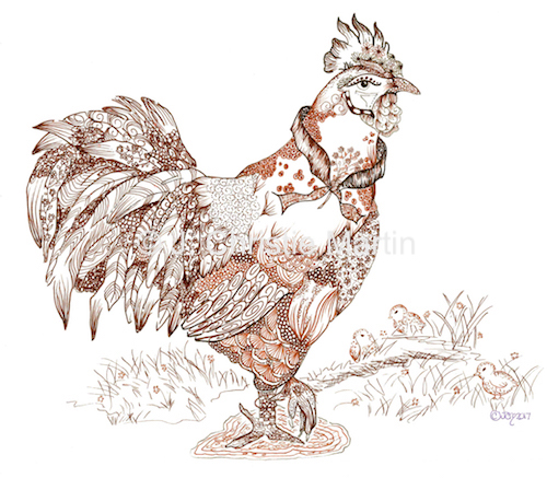 Chicken Zen Art
