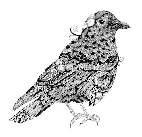 Crow Zen Art
