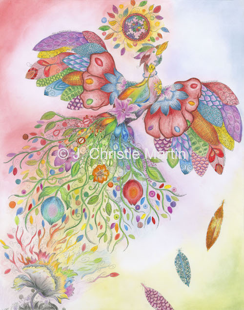 Rainbow Phoenix Art