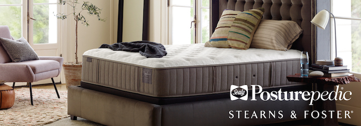 Image of Stearns & Foster mattress arrangement.
