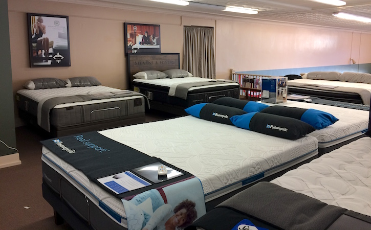 Image of mattress showroom.