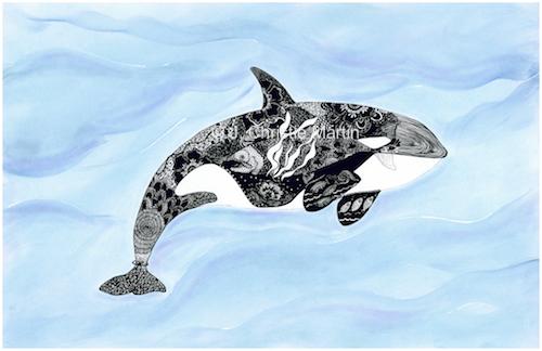 Whale Zen Art